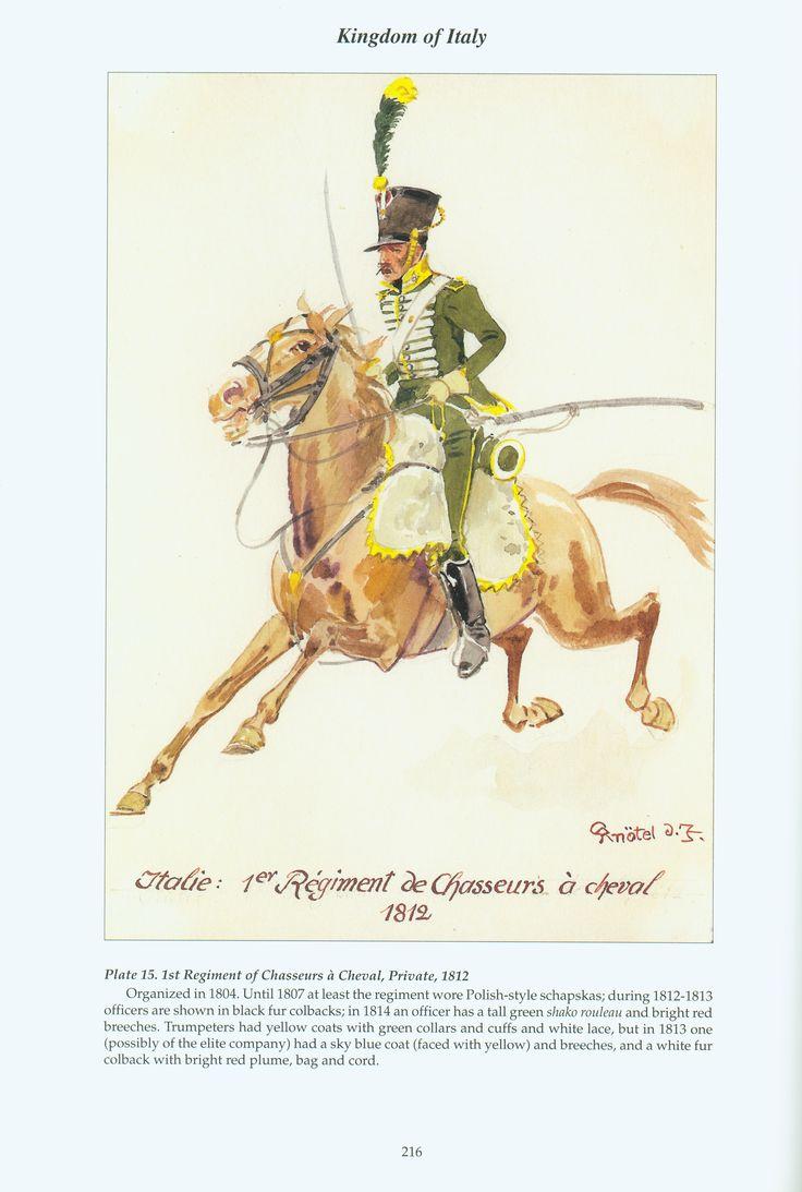 Regno d'Italia - Soldato del 1° Reggimento Cacciatori a Cavallo, 1812