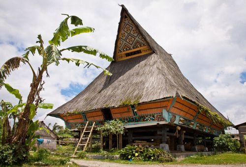 Traditional house of Batak-Karo ethnic group in Lingga Village, Karo, North…