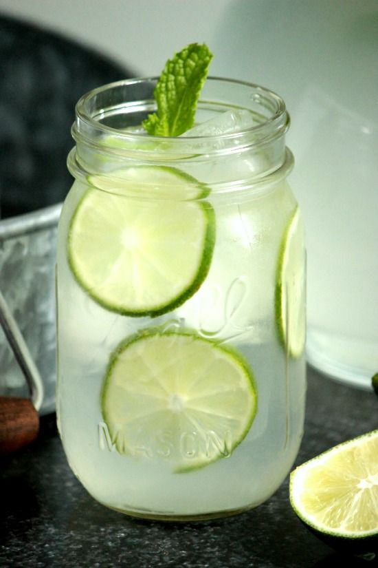 Homemade Limeade- It's sweet but has a tangy the kick from the lime; it's just a perfect.