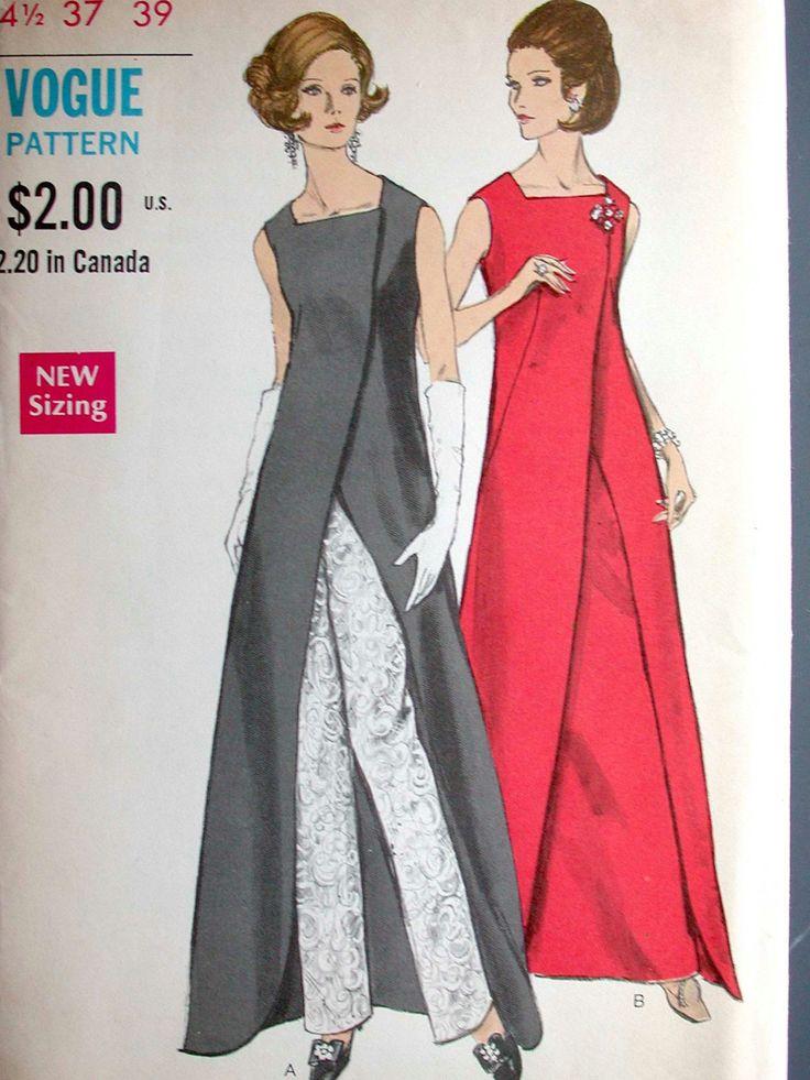 Moda vestido patrón No 7672 sin cortes Vintage años 1960