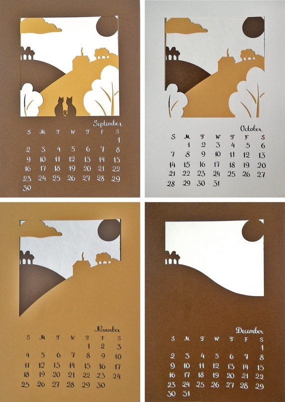 Papercut calender. Adorable.