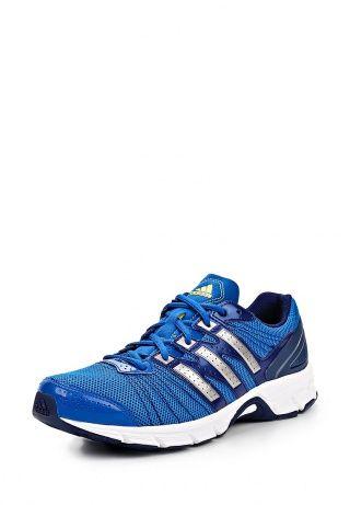 Кроссовки adidas Performance выполнены из искусственной кожи синего цвета. Детали: шнуровка, сетчатые воздухопроницаемые вставки, удобная тканевая подкладка, гибкая комфортная подошва, логотип марки. http://j.mp/1t0jxAk