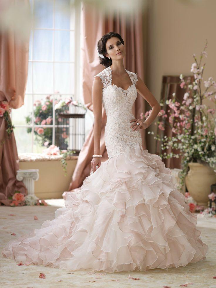 Super feminine! David Tutera - Style Crawley 114276 #blush #wedding #dresses