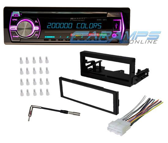 New Pioneer Car Truck Stereo Radio Receiver CD Player with Installation Kit   eBay