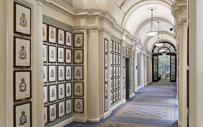 Badge Corridor at the Royal Air Force Club