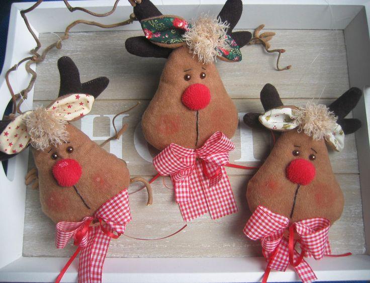 🦌 elch kopf rentier🦌 anhänger 🦌 weihnachten advent 🦌 tilda