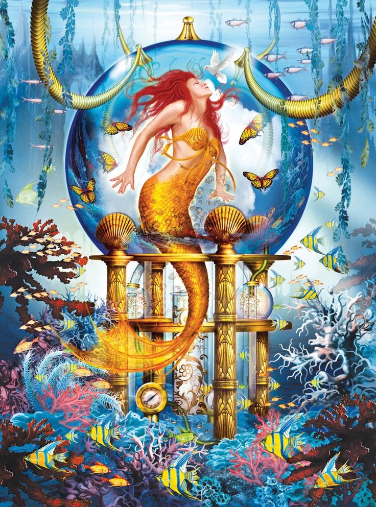 Blue Mermaid - Holographic - 1000pc Jigsaw Puzzle by Lafayette Puzzle Factory