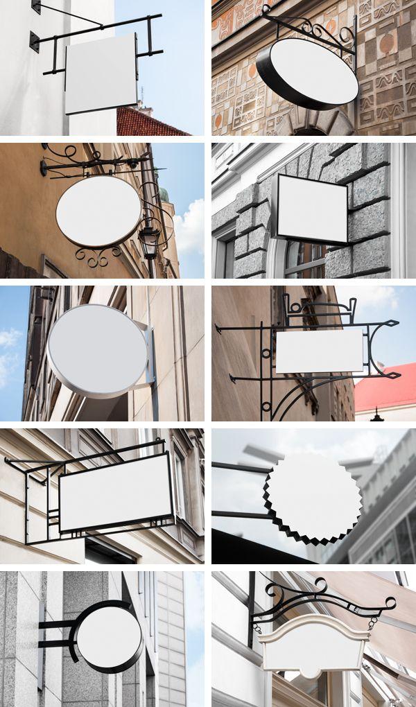 10 Signs Mockups - Coffee Shop & Restaurant on Behance