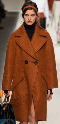 Модное женское пальто Осень Зима 2016 2017 - фото