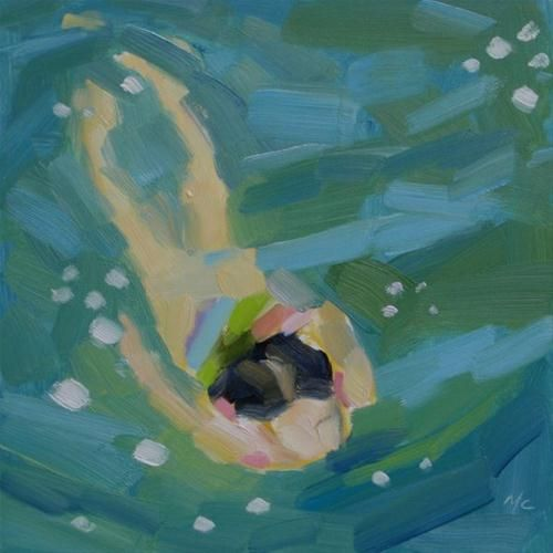 Swimmer original fine art for sale michael for Original fine art paintings for sale