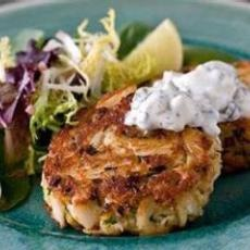 Spicy Louisiana Crab Cakes with Crystal Hot Sauce