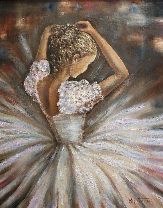 Peinture à l'huile original-ballerine moderne et par mgotovac