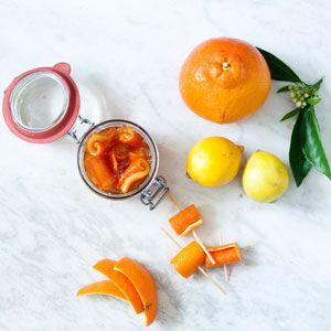 Minneola Orange Curls (in a sweet orange juice syrup) | Crush Magazine Recipe