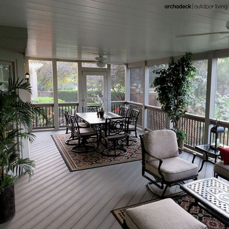 19 best screen porch flooring images on pinterest porch for Covered porch flooring options