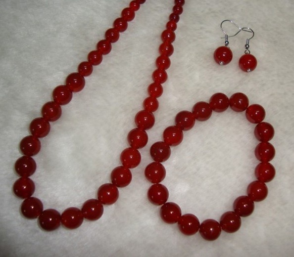 Natural red agate necklace suits $23
