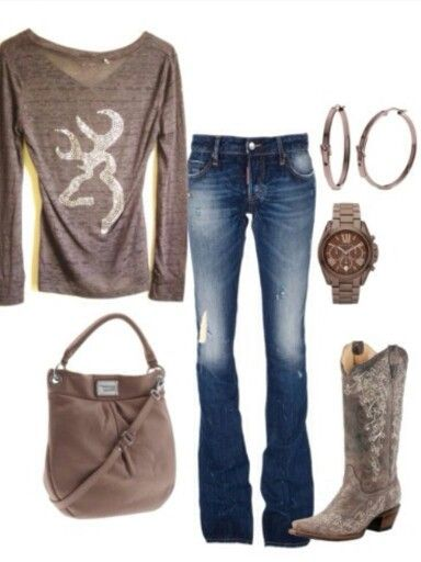 Country girl style...where do I find that Browning top?!?!