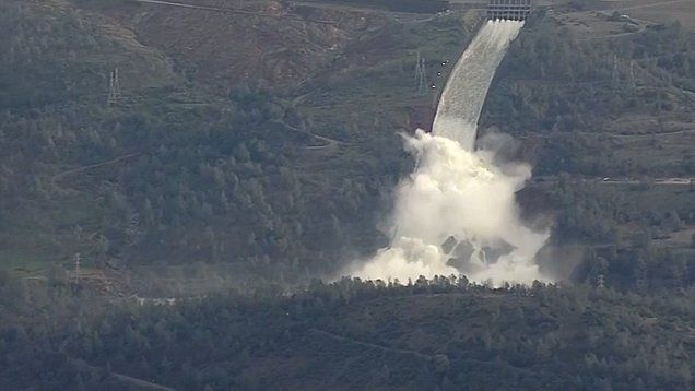 The crumbling spillway of California's Oroville Dam is 'still a dynamic situation,' according to Butte County Sheriff Kory Honea, and the evacuation order is still in effect for people living down the river from the dam