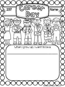 Career Day Printable - Click the link for the Free Career Day download!