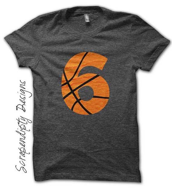 Basketball Number Iron on Transfer - Iron on Custom Basketball Shirt / Sport Birthday Party / Dad Customized Tshirt / Digital Design by ScrapendipityDesigns, $2.50