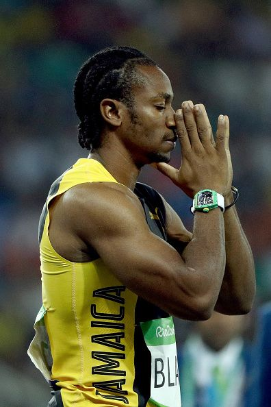 Yohan Blake of Jamaica competes in the Men's 100 meter semifinal on Day 9  of…