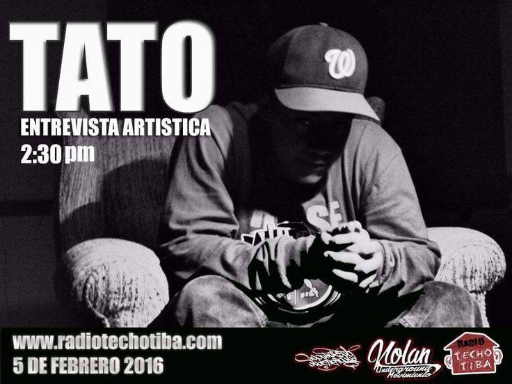 Este viernes 5 de febrero en nuestro programa radial EL TATO entrevista artística 2:30 pm bien sintonizados