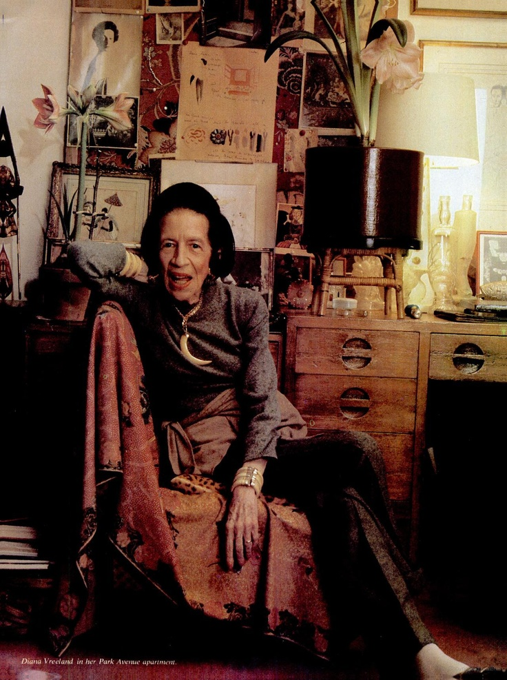 """There's only one thing in life, and that's the continual renewal of inspiration."" Diana Vreeland"