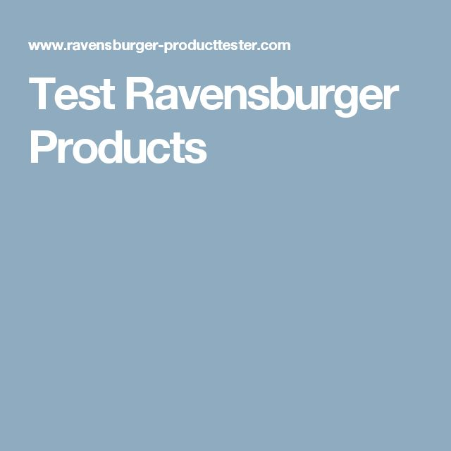 Test Ravensburger Products