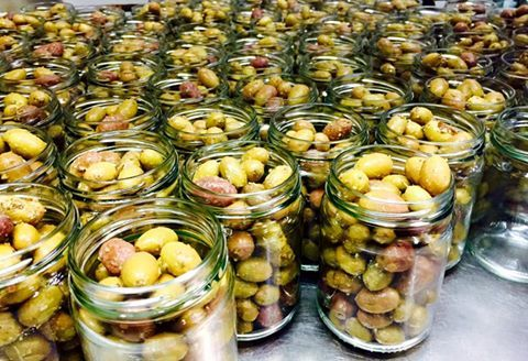 We Grow the Olives, We Pick the Olives, We Pickle the Olives, We Jar the Olives......... All you have to do is Eat the Olives!!!!!!  YUM @ Fourth Village