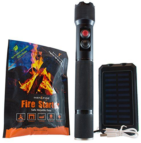 Introducing Firelight Flashlight with Fire Starter Finally on Amazon  Rechargable Battery Instafire Extra Element and Solar Charger. Great product and follow us for more updates!