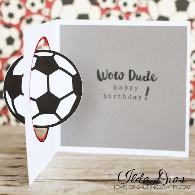 (I) (L)ove (D)oing (A)ll Things Crafty!: Soccer Ball Spinner Card