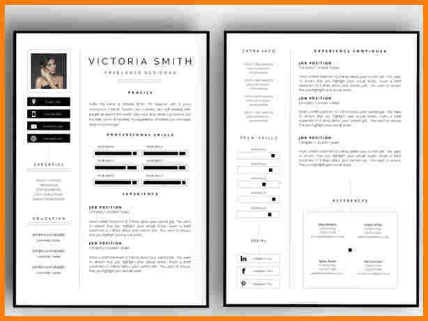 2 Page Resume Templates Resume Templates Cv Template Free Resume Design Template Resume Templates