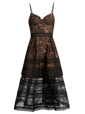 Paisley lace midi dress | Self-portrait | MATCHESFASHION.COM AU