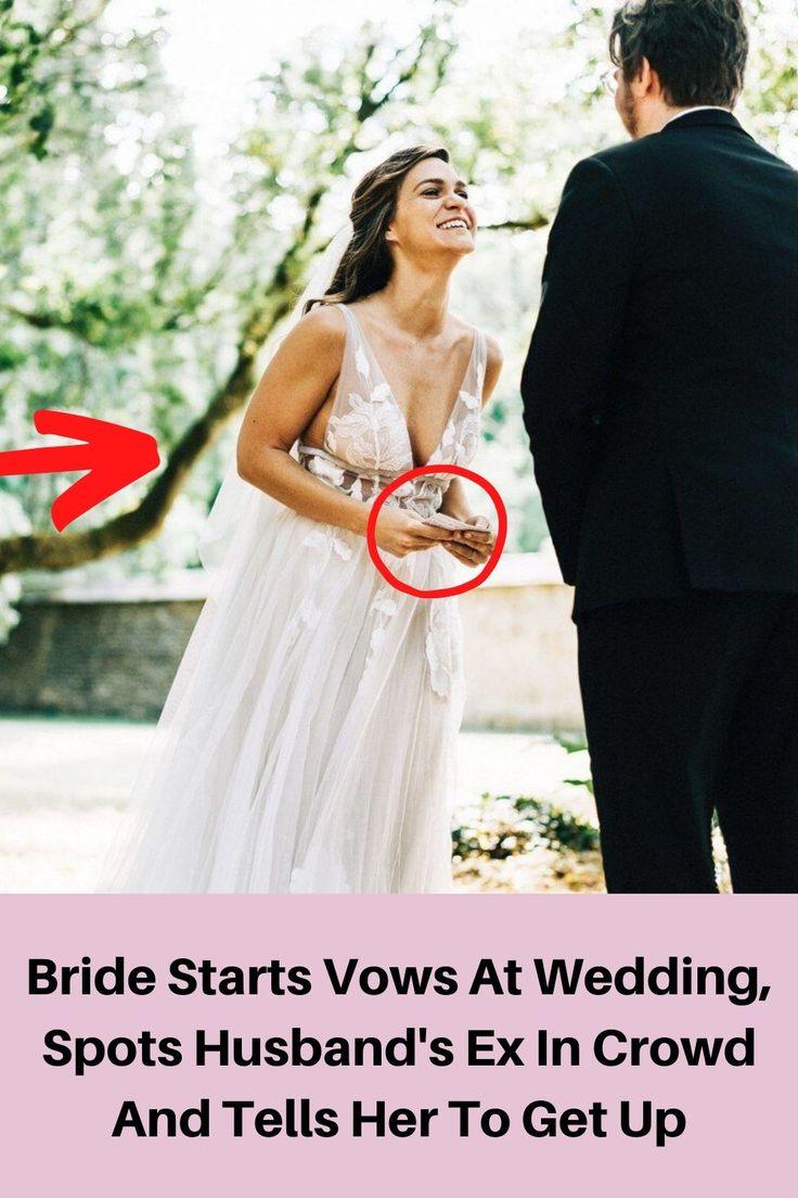 Bride Starts Vows At Wedding, Spots Husband's Ex In Crowd