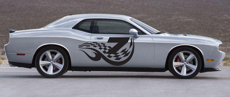 CAR VINYL GRAPHICS STICKER RACING TRIBAL TATTOO STREET RACING NUMBER NASCAR 031 #3M