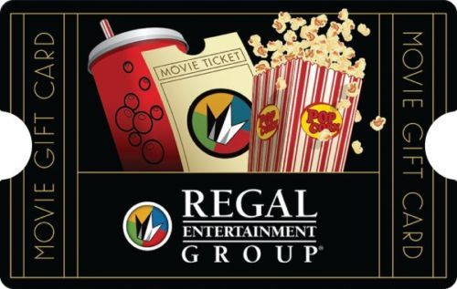 $50 Regal Entertainment Group Gift Card $40 + Free Shipping