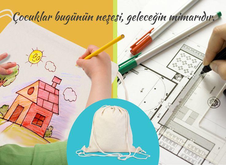 Çocuk etkinlikleri için boyamaya uygun bez çantalar. #totebag #bezçanta #etkinlik