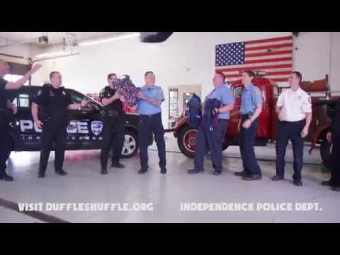 Those were some powerful dance moves,  The City of Independence, Kentucky Police Department! Chief Bryan Carter, let's see what kind of #DuffleShuffle moves the Covington Police Department  has!  Your efforts will support and spread awareness for kids in foster care!
