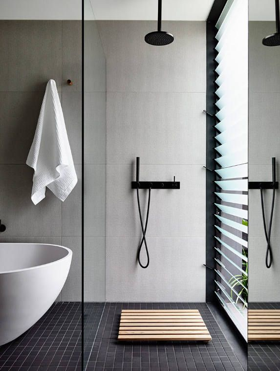 Louvre Windows In Bathroom By South Melbourne Based Wellard Architects