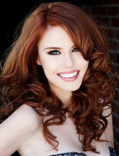 love this color for fall... it looks good even on those of us with pale skin and blue eyes! finally, a dark hair color i can pull off!