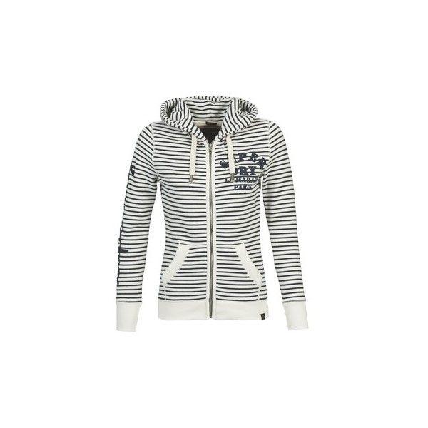 Superdry APPLIQUE ZIPHOOD Sweatshirt (295 BRL) ❤ liked on Polyvore featuring tops, hoodies, sweatshirts, white, hoodie sweatshirts, superdry tops, white tops, hooded pullover and hooded pullover sweatshirt