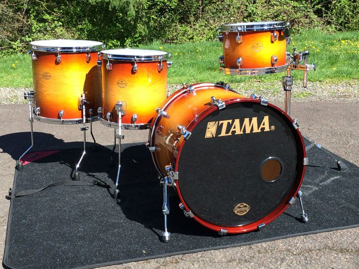 Tama Starclassic Maple 4 piece Drum set in Gold Sunburst  Made in Japan