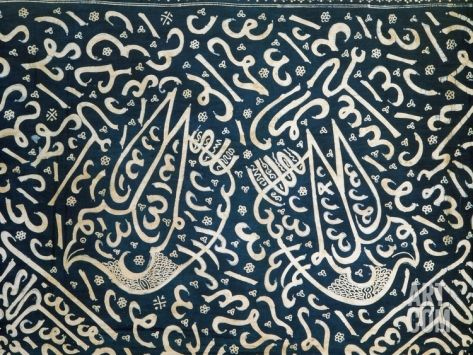 Indonesian Textile with Pseudo-Arabic Calligraphy Photographic Print at Art.com