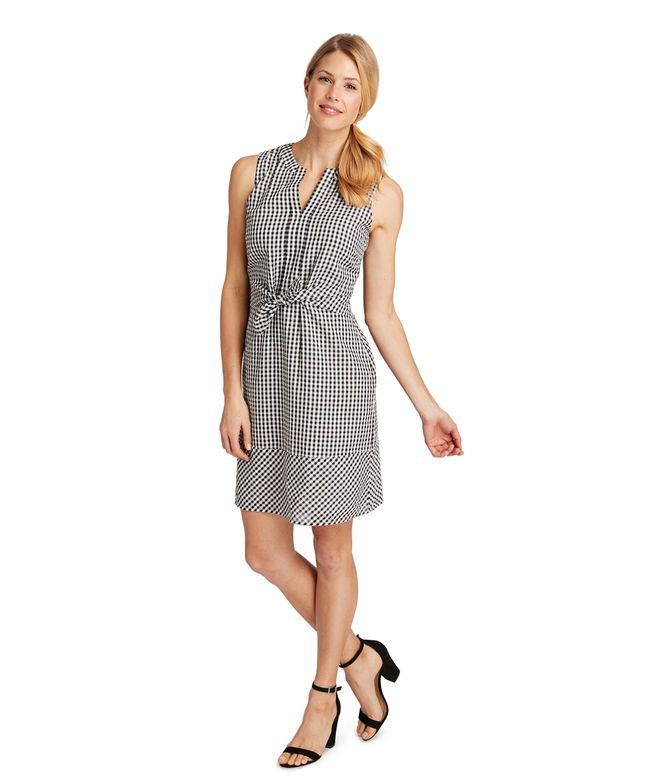 c6c1845b8c Shop Gingham Seersucker Tie Front Dress at vineyard vines | Closet ...