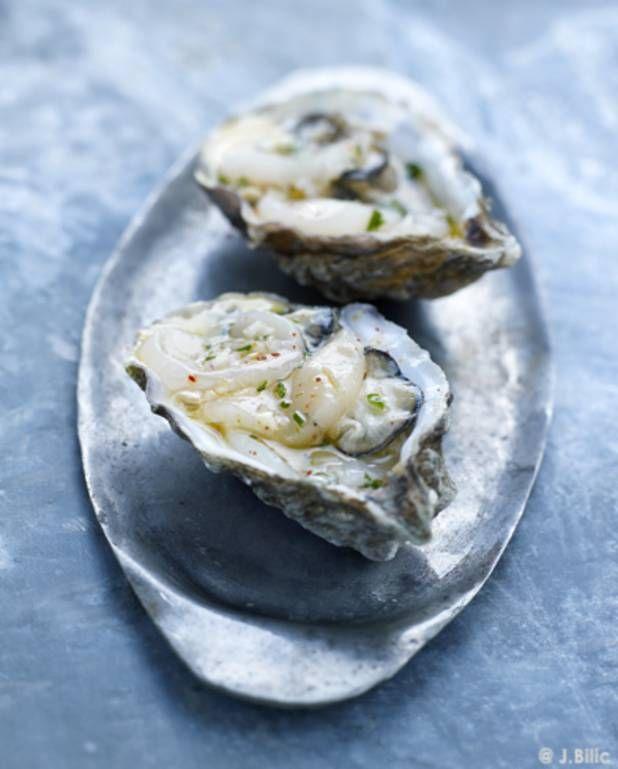 Ceviche de saint-jacques et d'huîtres pour 4 personnes - Recettes Elle à Table