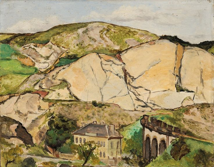Emil Filla (1882-1953) - Landscape with Viaduct