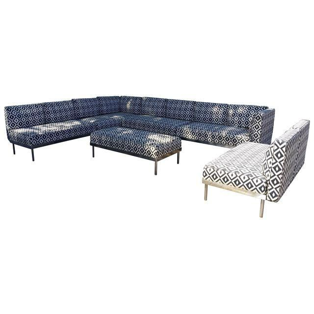 Image of 6 Piece Outdoor Sectional Furniture Set