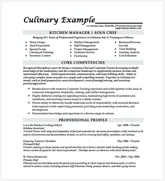 Sous Chef Resume Template Hotel And Restaurant Management Being In A Hospitality Both Challeng Chef Resume Sample Resume Templates Business Resume Template