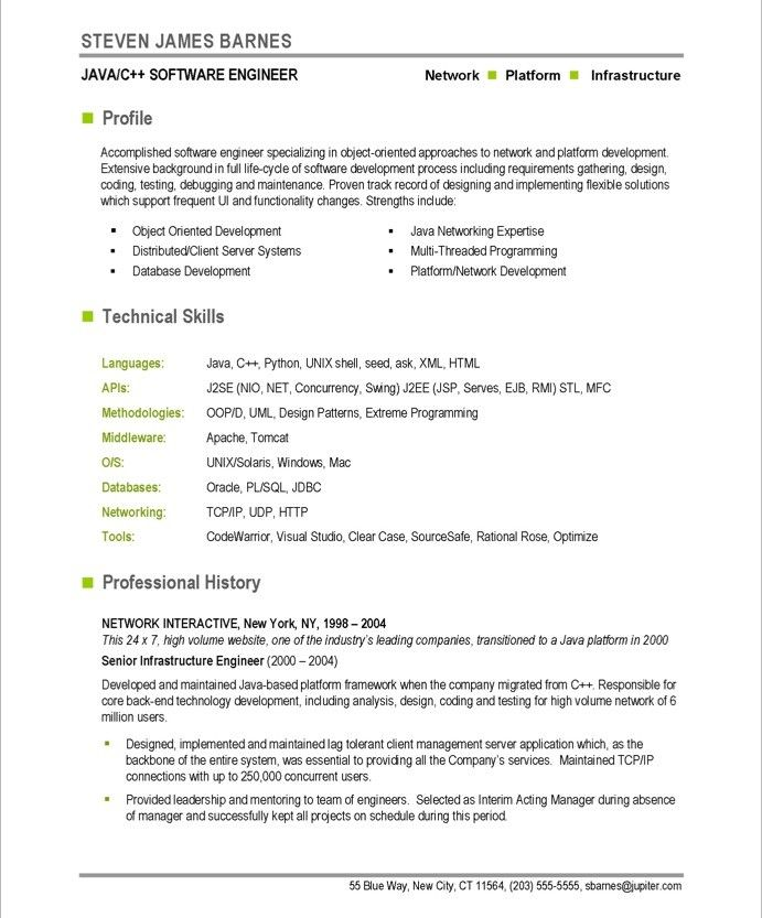 Example It Resume Sample Software Engineer Resume Software