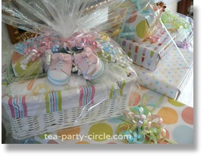 Unique Baby Shower Wrapping | Baby Shower Tea Party Theme and Ideas - A Garden Tea Party