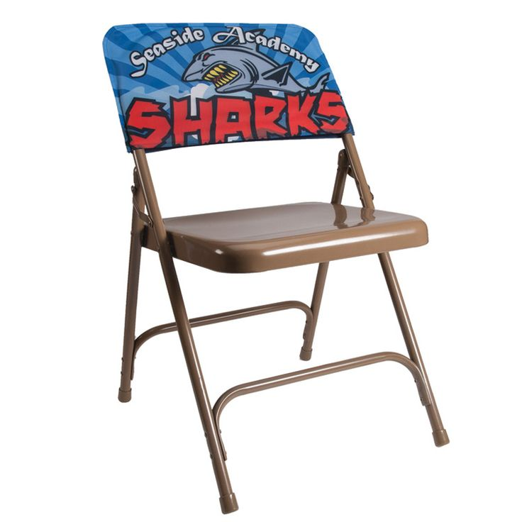 Quickly and easily brand your event with custom chair covers. Lightweight, easy to transport and the full color imprint lets you go wild.